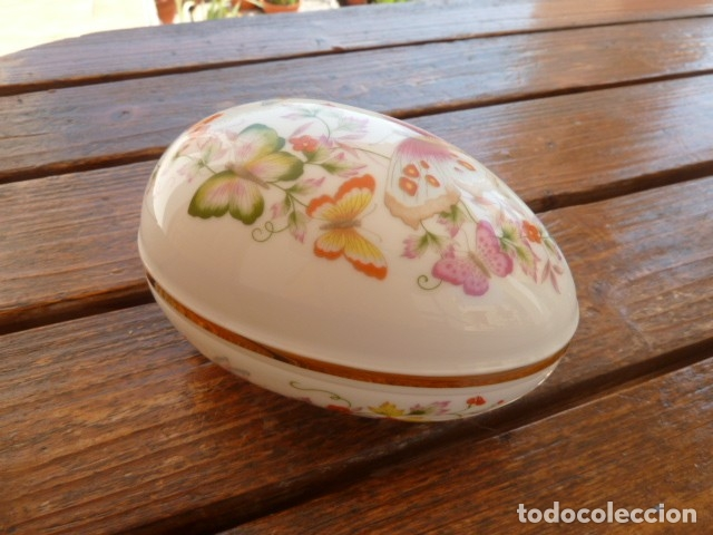 Vintage: Cajita en forma de huevo decorada con mariposas. Avon - Foto 5 - 175630114
