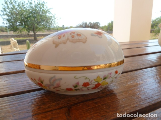 Vintage: Cajita en forma de huevo decorada con mariposas. Avon - Foto 8 - 175630114