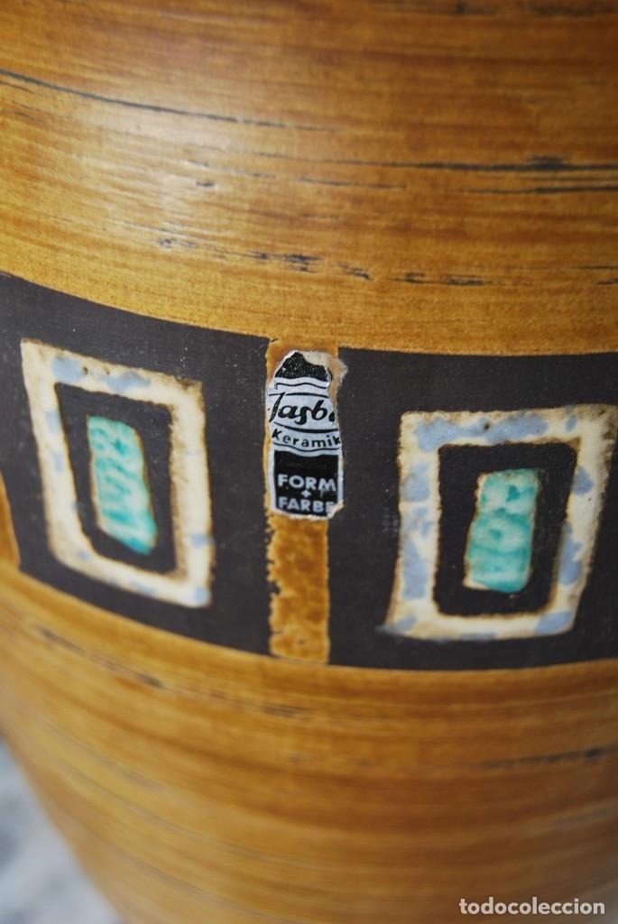 Vintage: JARRÓN DE CERÁMICA ALEMANA - JASBA - WEST GERMANY - AÑOS 60 - GRAN TAMAÑO 35 CM - T - Foto 11 - 176154162