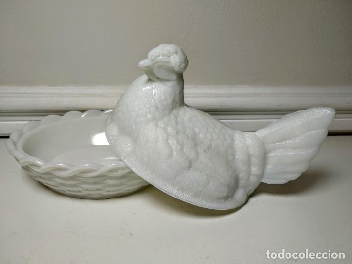 Vintage: Gallina de opalina blanca - Foto 3 - 176216670