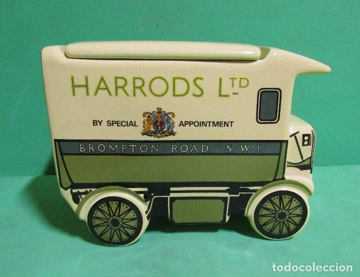 Vintage: HARRODS ltd. BOMBONERA CERAMICA EN FORMA DE ANTIGUO CAMION MEDIDAS 18X14X9 ( largo x alto x ancho) - Foto 3 - 176224914
