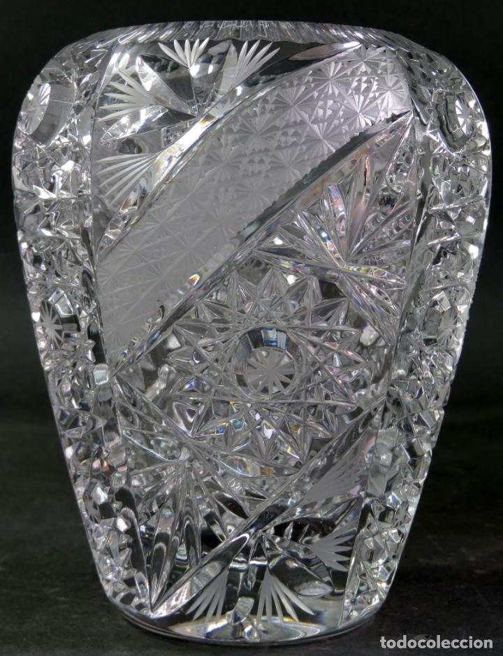 Vintage: Jarrón en cristal tallado de Bohemia hacia 1950 - Foto 3 - 176364893