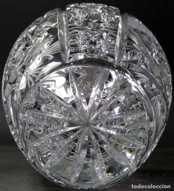 Vintage: Jarrón en cristal tallado de Bohemia hacia 1950 - Foto 6 - 176364893
