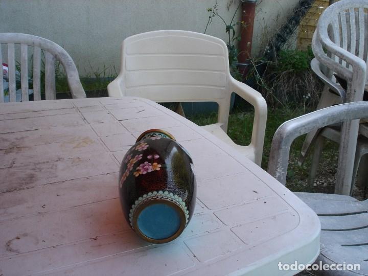 Vintage: bonito florero en esmalte cloissone siglo XIX finales comienzos del XX - Foto 4 - 176497169