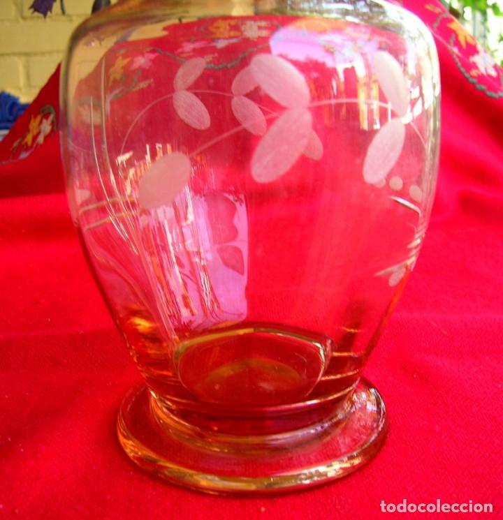 Vintage: Jarra de cristal grabado - Foto 2 - 176592359