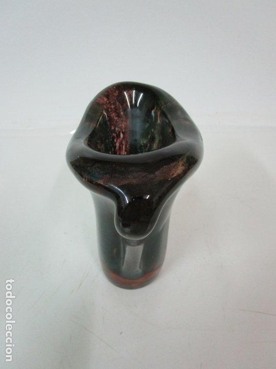 Vintage: Decorativo Jarrón - Cristal de Colores - Murano - Vintage - Años 60 - Foto 6 - 176877284