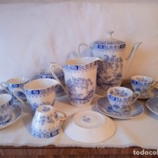 Vintage: JUEGO DE CAFE PORCELANA PONTESA CHINA BLUE (NUNCA USADO). Lote 177282144