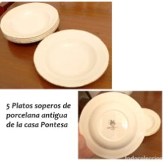 Vintage: CINCO PLATOS SOPEROS PONTESA. Lote 178266255
