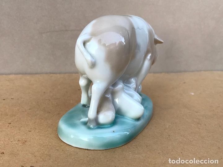 Vintage: Cerda amamantando cerditos en porcelana de MIRETE años 70 - Foto 4 - 178313948