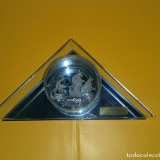 Vintage: M - MINIATURA CARABELA SANTA MARIA - CRISTAL - 18.5 BASE X 13 X 4.5 CMS. Lote 178862765
