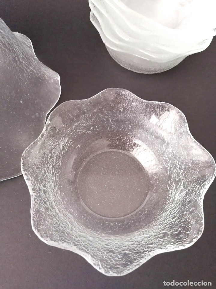 Vintage: Fuente/Ponchera / Vintage de Cristal con 6 cuencos a juego - Foto 5 - 179196227
