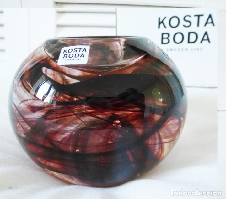 KOSTA BODA PORTAVELAS- CANDELABRO (Vintage - Decoración - Cristal y Vidrio)