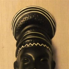 Vintage: ROSTRO DE MUJER AFRICANA DE GMUNDNER KERAMIK AUSTRIA FINK Nº 2260. Lote 180147060
