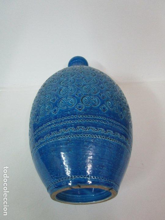 Vintage: Gran Jarrón - Cerámica Azul, Italia - Rimini Blue, Bitossi - Retro, Vintage - 52 cm Altura - Años 60 - Foto 10 - 180330575