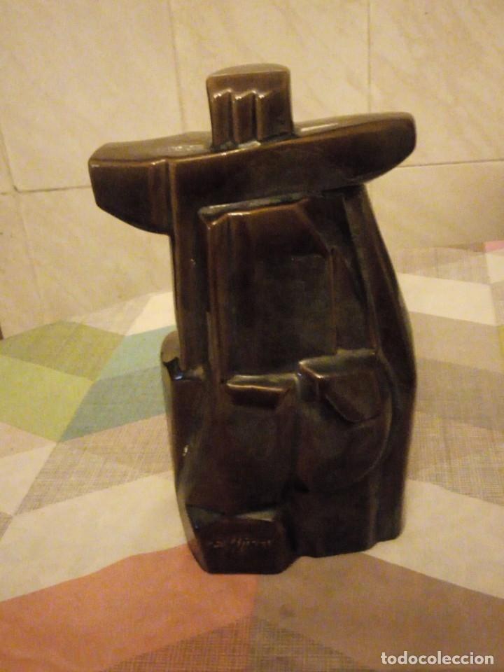 Vintage: Busto de mujer en porcelana vidriado art decó firmado e. la stress - Foto 4 - 180497123