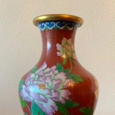 Vintage: JARRON DE COBRE ESMALTADO CON LA TÉCNICA DE CLOISONNE. Lote 181157327