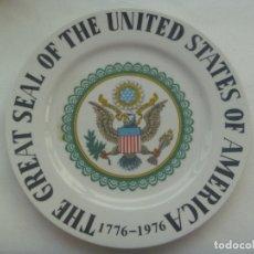Vintage: GRAN PLATO DE CERAMICA DEL BICENTENARIO DE LOS ESTADOS UNIDOS 1776 - 1976. MADE IN JAPAN. Lote 181525833