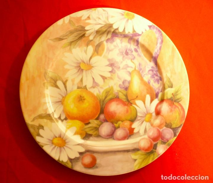 Vintage: GRAN PLATO PORCELANA ESPAÑOLA MARCA HERRÁNDIZ. DIÁMETRO 30,5 CM. - Foto 8 - 181910457