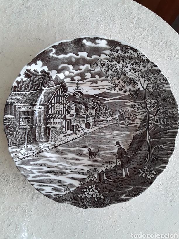 PLATO DECORATIVO PONTESA VINTAGE (Vintage - Decoración - Porcelanas y Cerámicas)