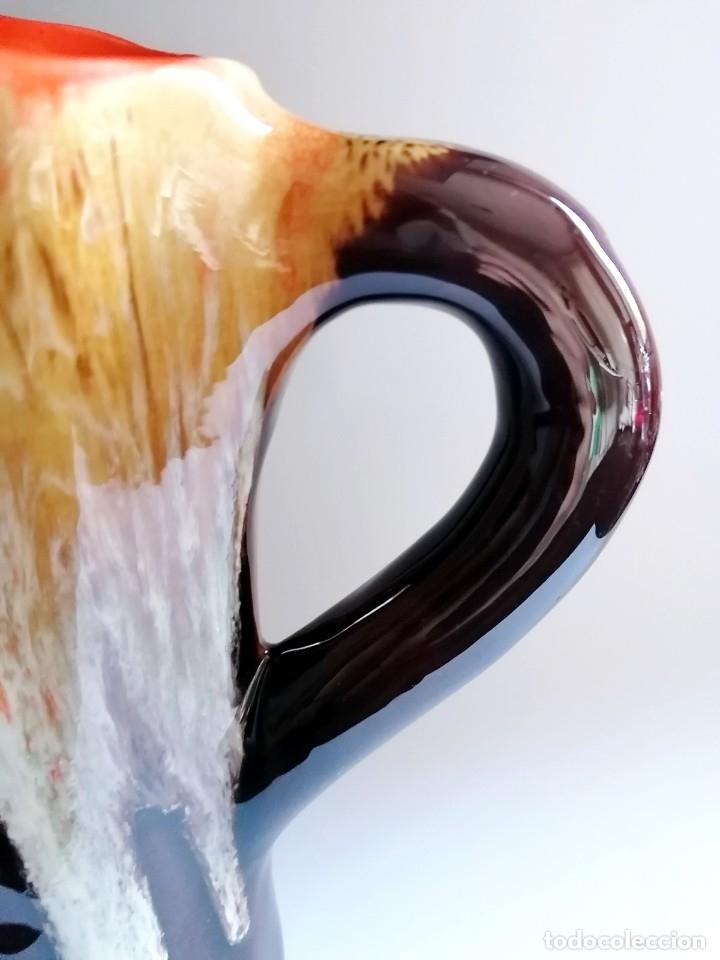 Vintage: Excepcional jarrón de cerámica esmaltada Vallauris, Francia, años 50-60 - Foto 3 - 182291608