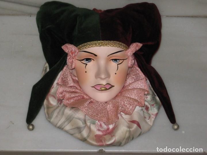 ARLEQUIN DE CERAMICA PARA COLGAR. (Vintage - Decoración - Porcelanas y Cerámicas)