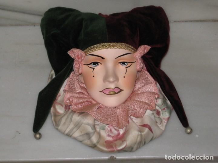 Vintage: Arlequin de ceramica para colgar. - Foto 4 - 182474261