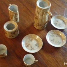 Vintage: JUEGO DE CAFÈ EN ORO. Lote 182773350