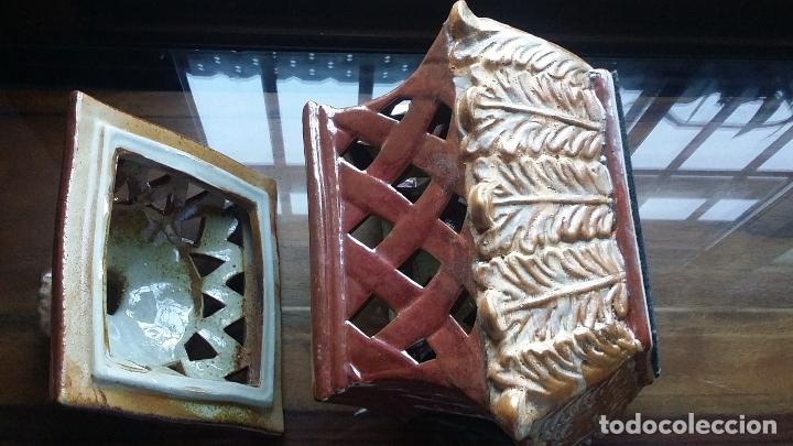 Vintage: pieza decorativa en ceràmica con calados - Foto 5 - 182977538