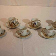 Vintage: SET 6 TAZAS Y PLATOS PORCELANA CAFE. Lote 183172560