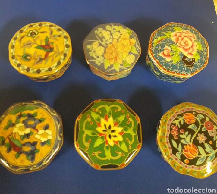 Vintage: Lote de Cajitas joyero de vitrina de porcelana vintage Japon - Foto 3 - 183201721