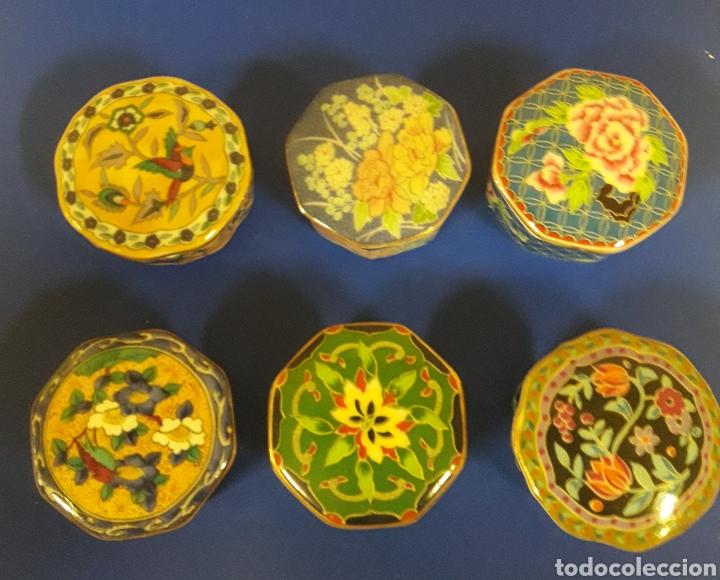 LOTE DE CAJITAS JOYERO DE VITRINA DE PORCELANA VINTAGE JAPON (Vintage - Decoración - Porcelanas y Cerámicas)