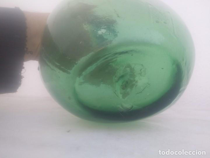 Vintage: Antigua botella VM VIDRIERIA MALLORQUINA ? damajuana garrafa de 2 litros vidrio soplado - Foto 7 - 183234993