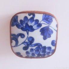 Vintage: CAJA JOYERO DE PORCELANA CHINA ANTIGUA ARTESANAL. Lote 183491817