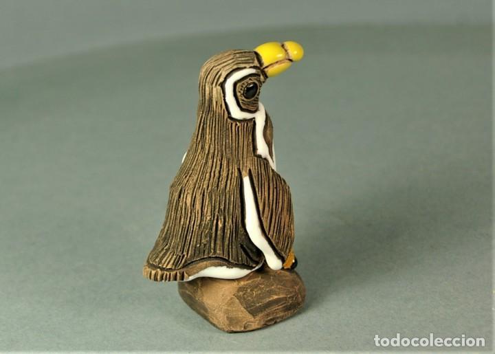 Vintage: CASALS Peru - PINGUINO Ceramica Vidriada Escultura Cerámica ORIGINAL Terracota VINTAGE - Foto 3 - 183515786