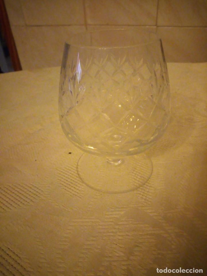 Vintage: Preciosa copa de cognac de cristal tallado - Foto 2 - 183536233