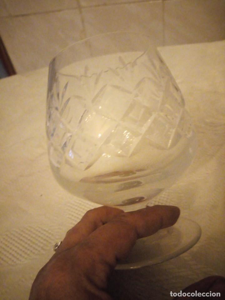 Vintage: Preciosa copa de cognac de cristal tallado - Foto 3 - 183536233