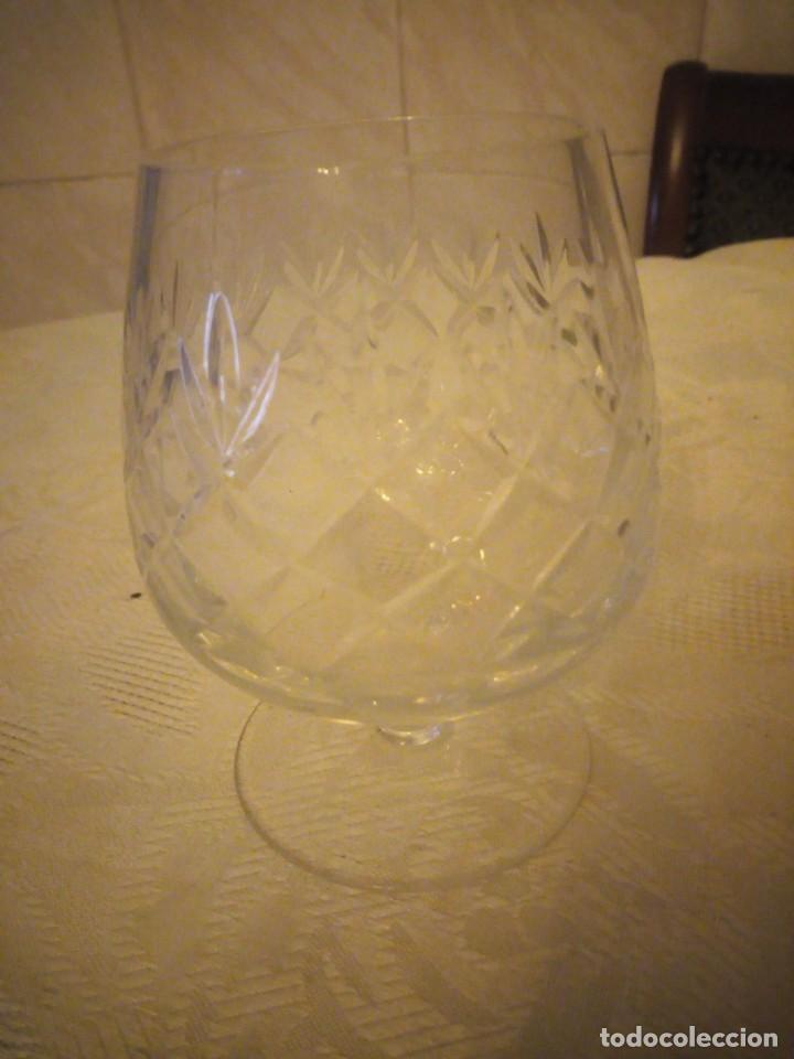Vintage: Preciosa copa de cognac de cristal tallado - Foto 4 - 183536233