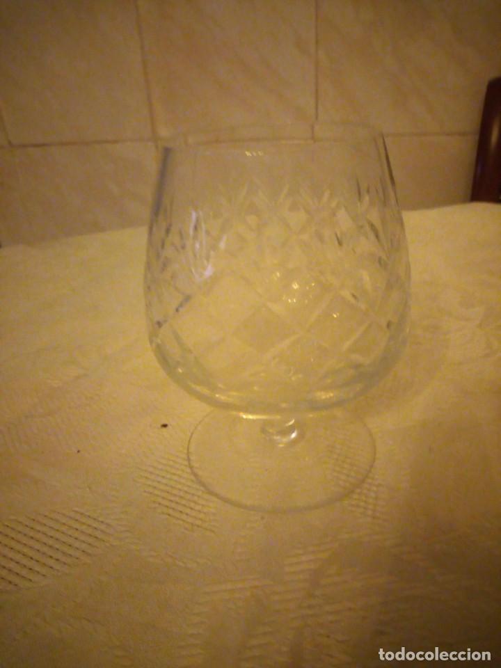 Vintage: Preciosa copa de cognac de cristal tallado - Foto 5 - 183536233