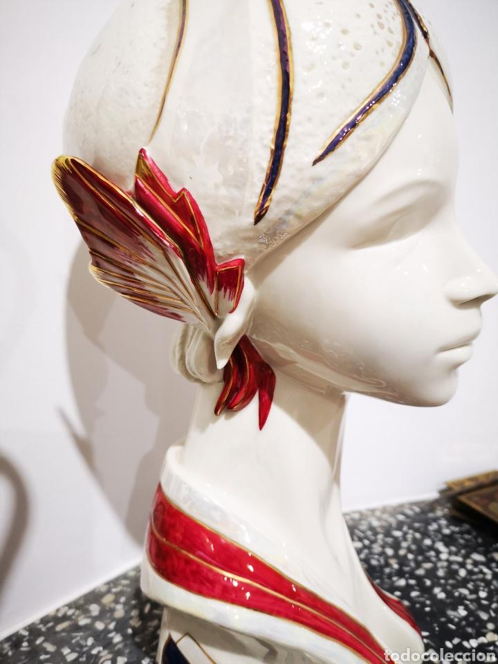 Vintage: Busto femenino en porcelana Galos, numerado. 35cm - Foto 3 - 183581520