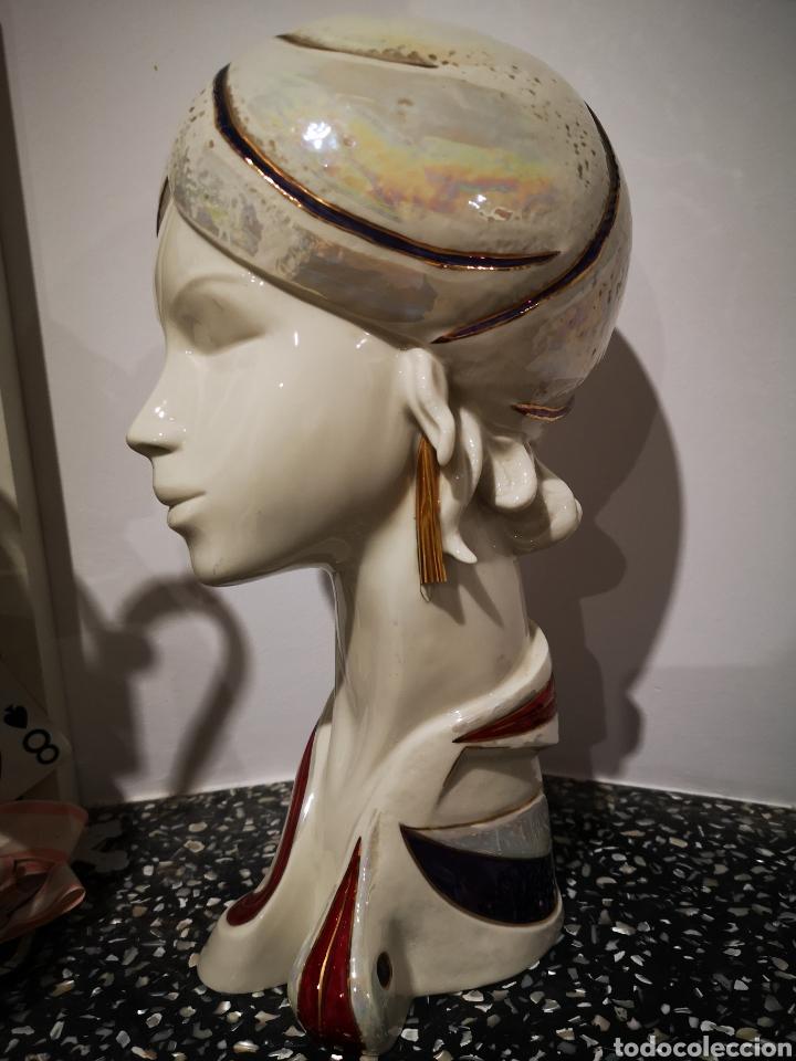 Vintage: Busto femenino en porcelana Galos, numerado. 35cm - Foto 4 - 183581520