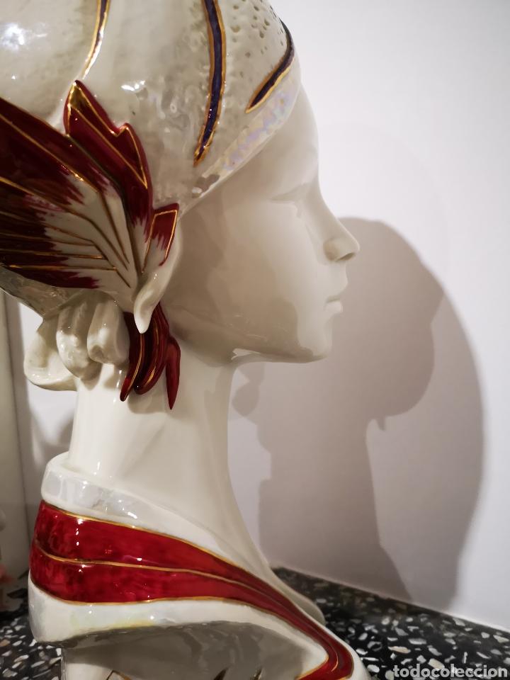 Vintage: Busto femenino en porcelana Galos, numerado. 35cm - Foto 8 - 183581520