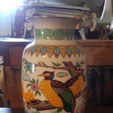 Vintage: JARRON ORIENTAL DE PORCELANA CON BELLOS DIBUJOS.. Lote 183665883