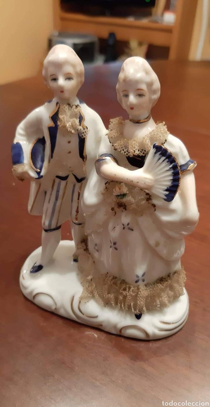 FIGURA PORCELANA TENGRA AÑOS 50-60 (Vintage - Decoración - Porcelanas y Cerámicas)