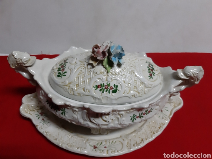 Vintage: Bonita sopera de porcelana italiana antigua en los años 60 BASSAMO - Foto 2 - 183711348