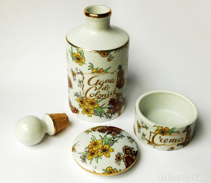 Excursión A la verdad jugador  conjunto de tocador 2 frascos agua de colonia y - Buy Vintage Porcelain and  ceramics at todocoleccion - 58263162