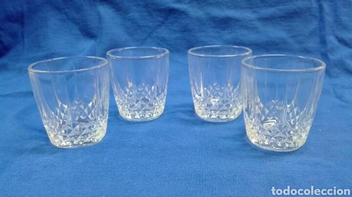 Vintage: Juego botella y 4 vasos de cristal. - Foto 3 - 184405893