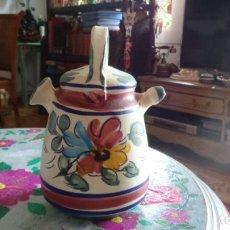 Vintage: PEQUEÑO BOTIJO HECHO A MANO, MUY BIEN CONSERVADO. Lote 184584348