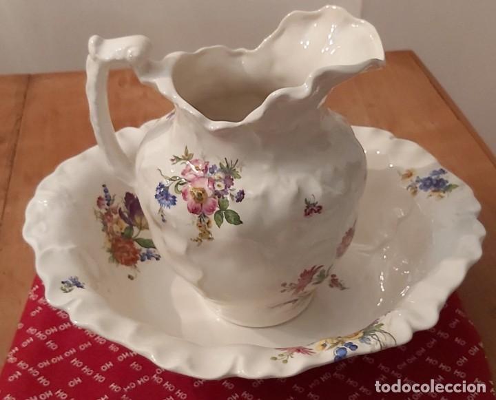 Vintage: Jarra y palangana de porcelana inglesa Blakeney Siglo XX - Foto 3 - 185903948