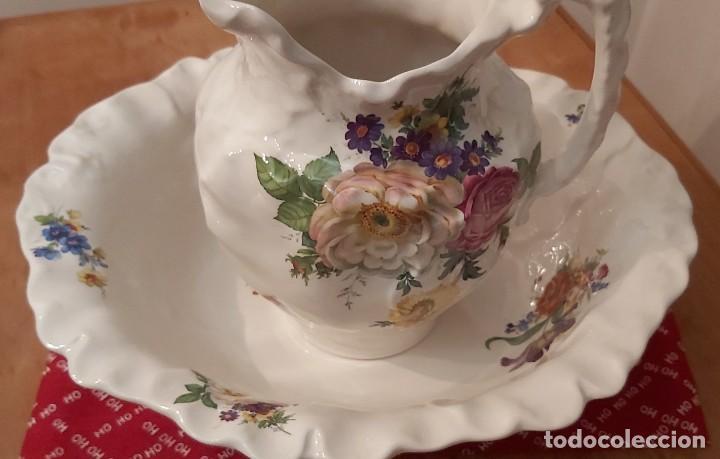 Vintage: Jarra y palangana de porcelana inglesa Blakeney Siglo XX - Foto 4 - 185903948