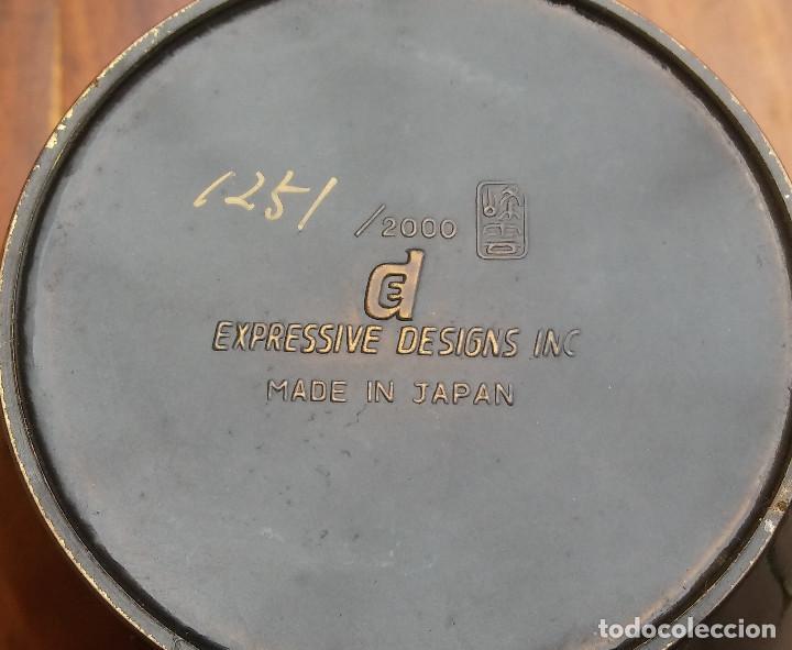 Vintage: MUY ESCASO JARRON DE CERAMICA E INCRUSTACIONES, DISEÑO BUHOS. EDICIÓN LIMITADA Y NUMERADA - Foto 7 - 186264911